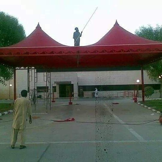 تركيب مظلات هرمي شكل قبب – مظلات نورة البيشي-0531084491