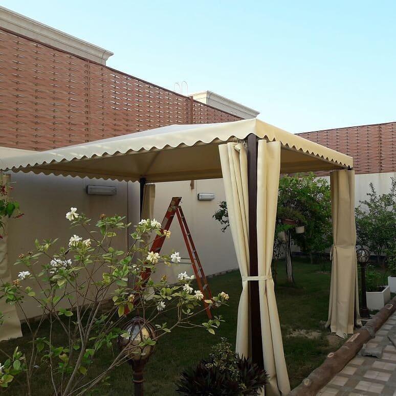 مظلات حدائق منزلية بجميع انواع المظلات